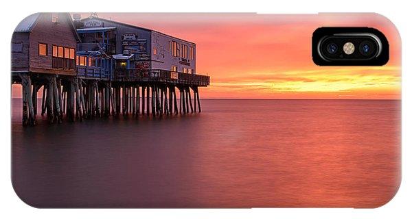 Orchard Beach iPhone Case - Crimson Pier by Michael Blanchette