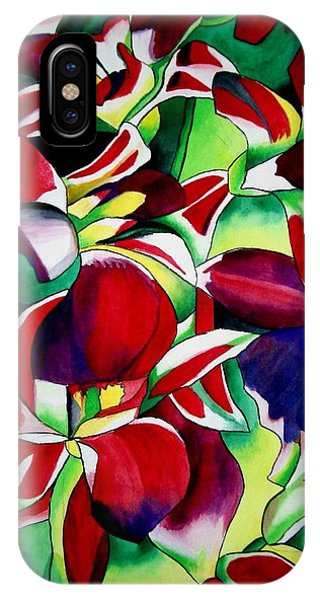 Crimson Tropical Singapore Orchids Phone Case by Sacha Grossel