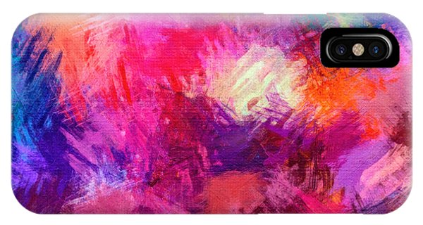 Crisscross Brushwork IPhone Case