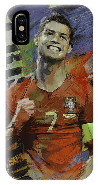 Borussia Dortmund iPhone Case - Cristiano Ronaldo - B by Corporate Art Task Force