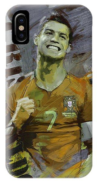 Borussia Dortmund iPhone Case - Cristiano Ronaldo by Corporate Art Task Force