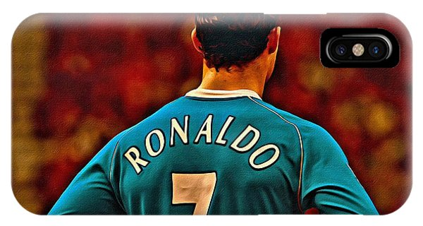 Cristiano Ronaldo iPhone Case - Cristiano Ronaldo Poster Art by Florian Rodarte