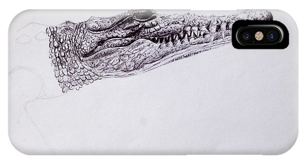 Croc Sketch IPhone Case
