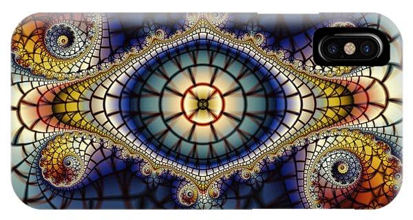 Fractal Landscape iPhone Case - Crochet Work-geometric Abstraction by Karin Kuhlmann