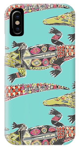 Crocodile iPhone Case - Crocodile Blue by MGL Meiklejohn Graphics Licensing
