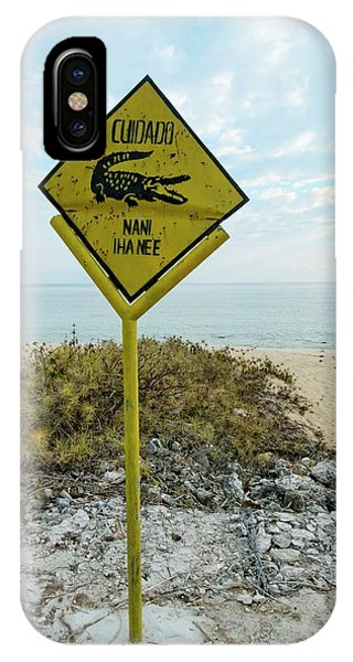 Crocodile iPhone Case - Crocodile Warning Sign by Louise Murray/science Photo Library