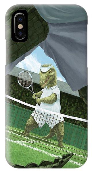 Crocodiles Playing Tennis At Wimbledon  IPhone Case