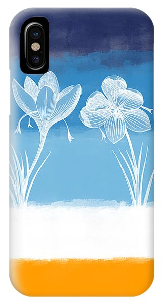 Contemporary Floral iPhone Case - Crocus Flower by Aged Pixel