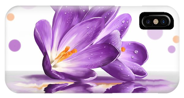 Violet iPhone Case - Crocus by Veronica Minozzi