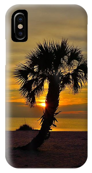Crooked Palm Sunset IPhone Case