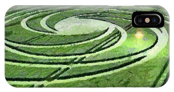 Crop Circles In Field IPhone Case