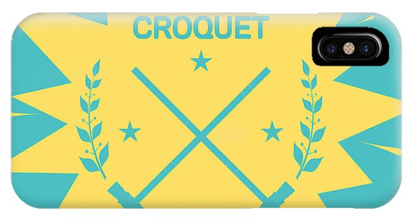 Hit iPhone Case - Croquet. Vintage Background With Clubs by Vectorok