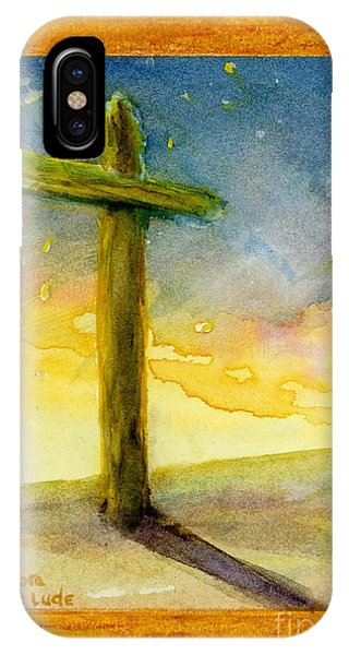 Cross At Dawn In Blue And Gold Sunrise IPhone Case