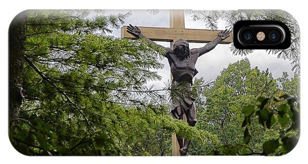 Cross In The Woods II IPhone Case