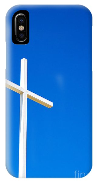 Cross On Blue Sky IPhone Case