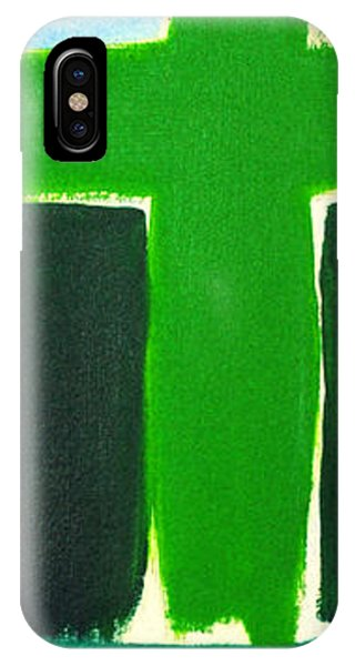 Green Cross On Hill IPhone Case