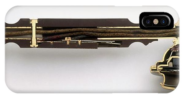 Electrical Component iPhone Case - Cross-section Through Telephone Handset by Dorling Kindersley/uig