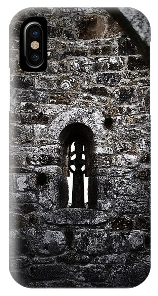 Crosses And Stone Walls At Clonmacnoise IPhone Case