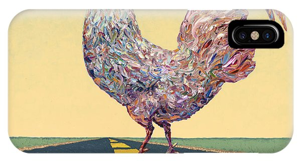 Rooster iPhone Case - Crossing Chicken by James W Johnson