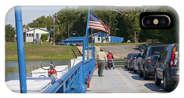 Crossing The Potomac On White's Ferry From Virginia To Maryland Phone Case by William Kuta