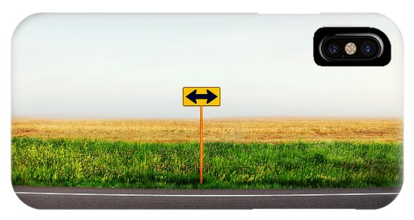 Road Signs iPhone Case - Crossroads by Todd Klassy