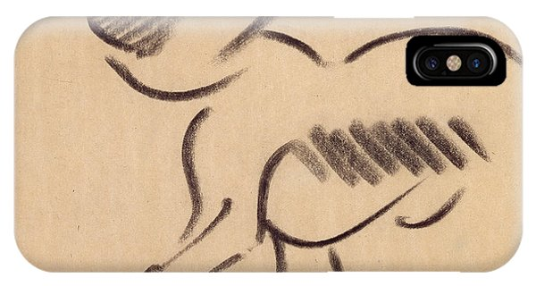 Crouching Monkey IPhone Case