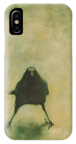 Avian iPhone Case - Crow 6 by David Ladmore