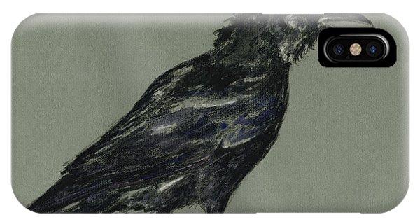 Crow iPhone Case - Crow by Juan  Bosco