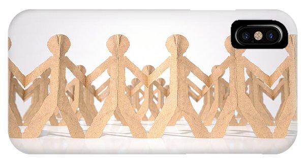 Cutout iPhone Case - Crowd Of Cutout Paper Cardboard Men by Allan Swart