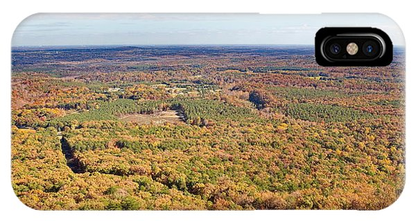 Crowders Mountain Overlook Panorma IPhone Case
