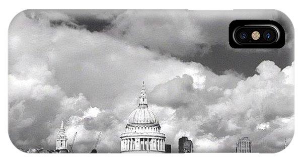 London Bridge iPhone Case - Crowds Before St Paul's by Marc Gascoigne