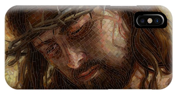 Religious iPhone Case - Crown Of Thorns Glass Mosaic by Mia Tavonatti