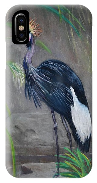 Crowned Crane IPhone Case