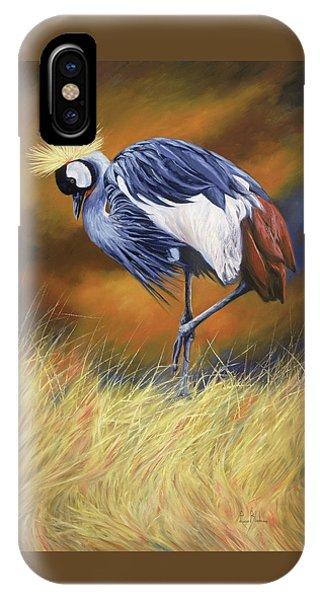Crane iPhone Case - Crowned by Lucie Bilodeau