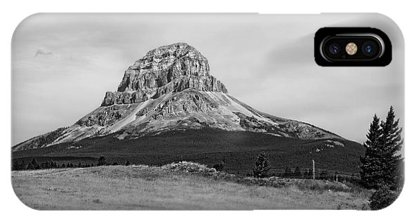 Crowsnest Mountain Black And White IPhone Case