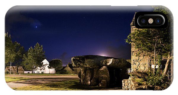 Crucuno Dolmen At Night IPhone Case