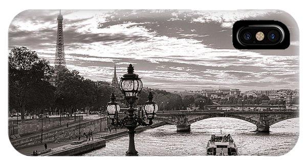 Cruise On The Seine IPhone Case