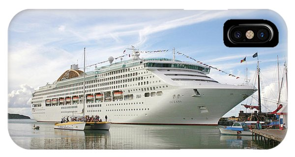 Cruise Ship iPhone Case - Cruise Ship by Graeme Ewens/science Photo Library