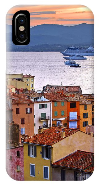 French Riviera iPhone Case - Cruise Ships At St.tropez by Elena Elisseeva