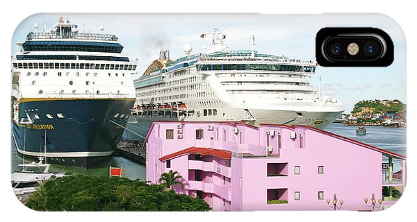 Cruise Ship iPhone Case - Cruise Ships by Graeme Ewens/science Photo Library