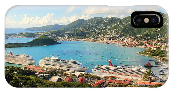 Cruise Ships In St. Thomas Usvi IPhone Case