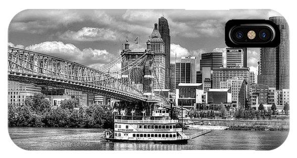 Cruising By Cincinnati 3 Bw IPhone Case