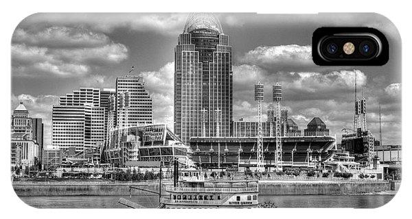 Cruising By Cincinnati 4 Bw IPhone Case