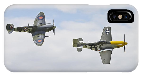 Cruising Spitfire And Mustang  IPhone Case