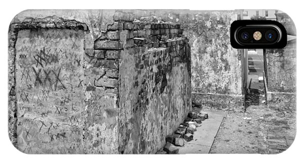 Crumbling Wishes At Saint Louis Cemetery In Black And White IPhone Case