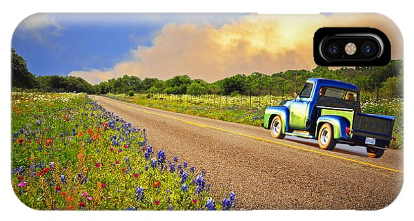 Crusin' The Hill Country In Spring IPhone Case