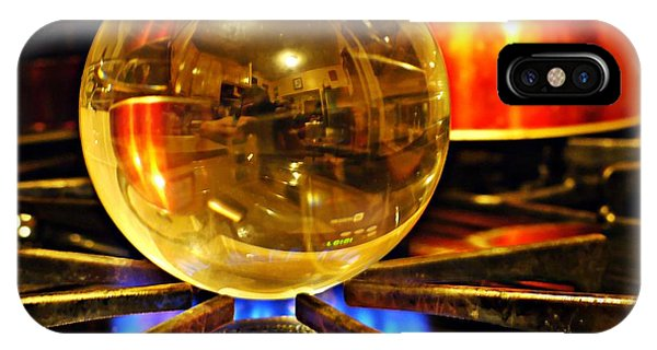 Fire Ball iPhone Case - Crystal Ball Project 5 by Sarah Loft