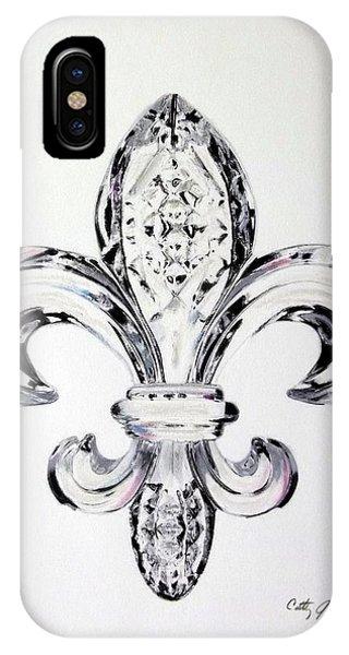 Crystal Fleur De Lis IPhone Case