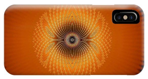 IPhone Case featuring the digital art Crystal Orange by Visual Artist Frank Bonilla