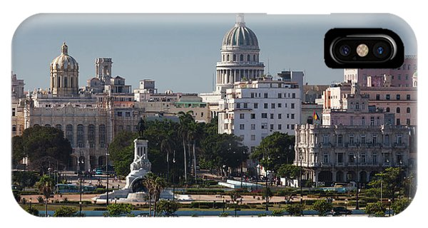 Revolutionary iPhone Case - Cuba, Havana, Elevated City View by Walter Bibikow
